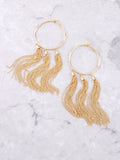 Metal Tassel Hoop Earring Anarchy Street Gold