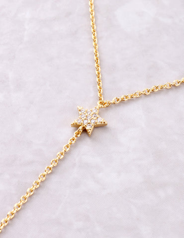Starlight Lariat Necklace Anarchy Street Gold - Details