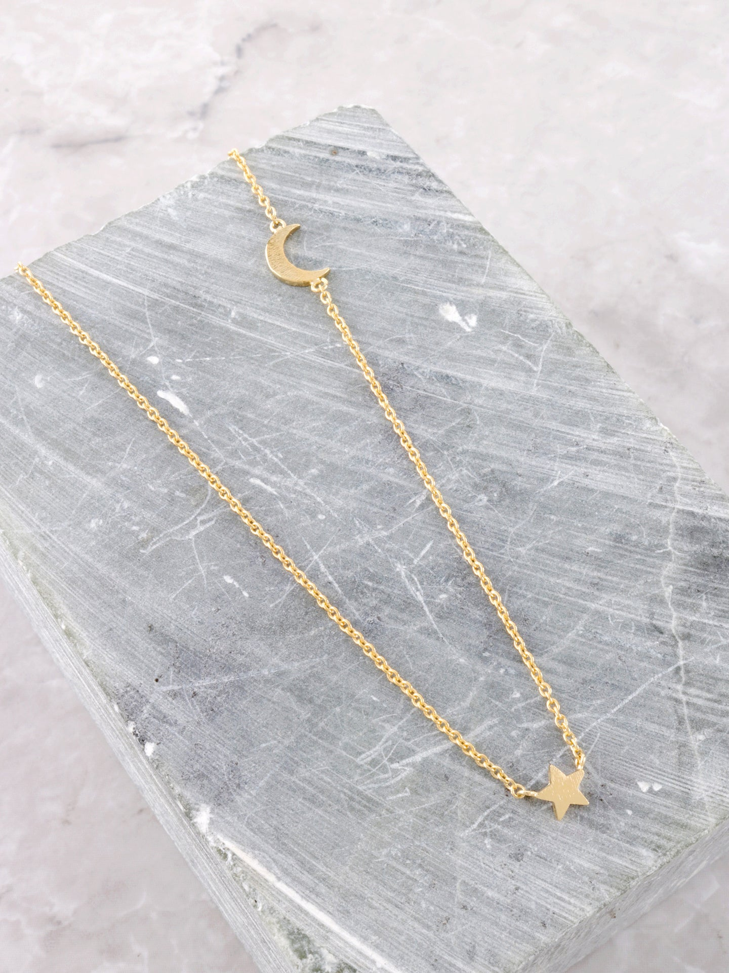 Moon Star Necklace Anarchy Street Gold