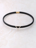 Pave Triangle Choker Anarchy Street Gold