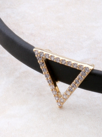 Pave Triangle Choker Anarchy Street Gold - Details