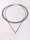 Onyx Double Choker Anarchy Street Gold