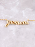 Zodiac Sign Necklace Anarchy Street Gold - Details