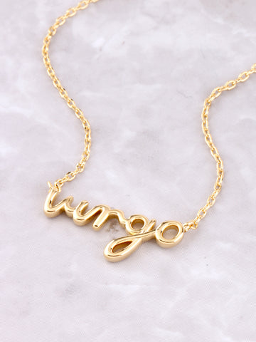 Zodiac Sign Necklace Anarchy Street Gold