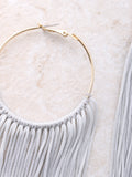 Fringe Hoops Earrings Anarchy Street Gray - 1 Details
