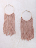 Fringe Hoops Earrings Anarchy Street Nude