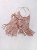 Fringe Hoops Earrings Anarchy Street Nude - Details