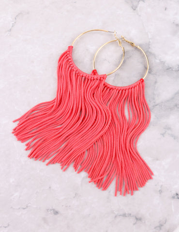 Fringe Hoops Earrings