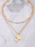 Prayer Circle Layered Necklace Set Anarchy Street Gold - Details