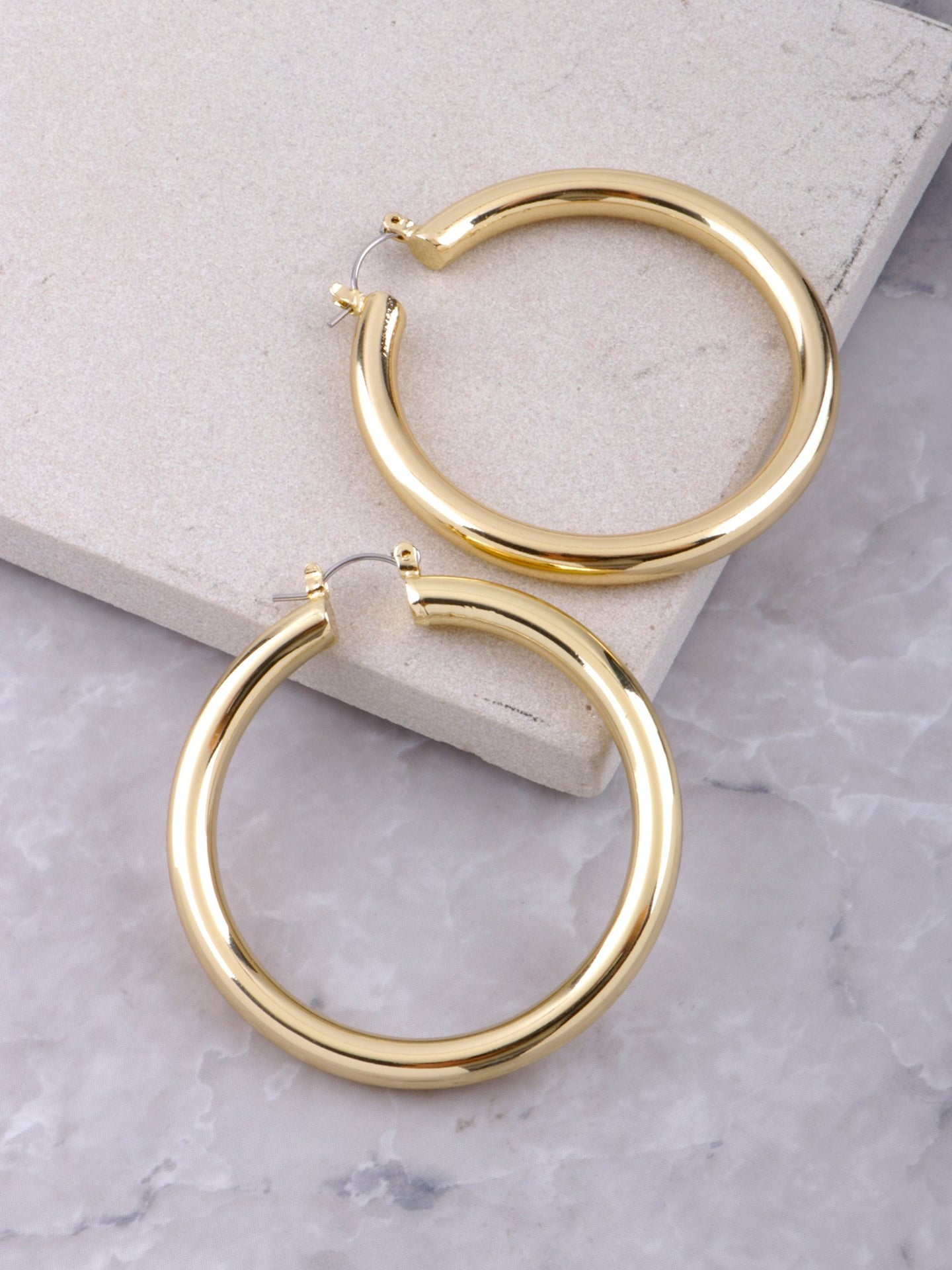 Chunky Hoop Earrings Anarchy Street Gold