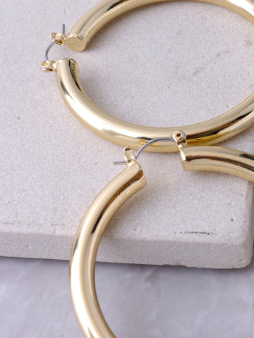 Chunky Hoop Earrings Anarchy Street Gold - Details