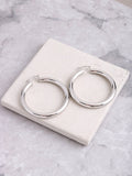 Chunky Hoop Earrings Anarchy Street Silver