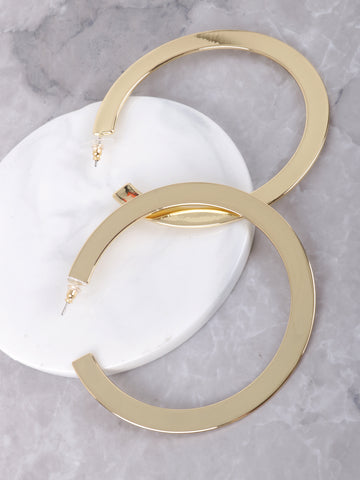 Flattened Hoop Earrings