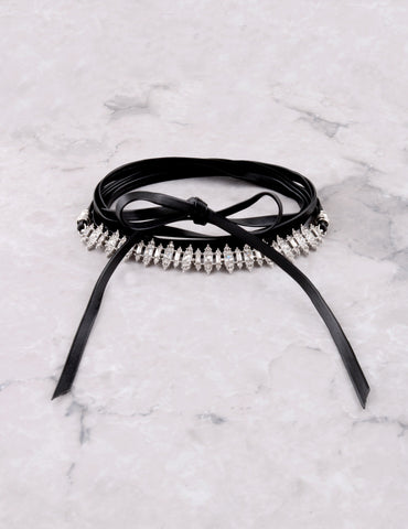 Royalty Wrap Choker Anarchy Street Black