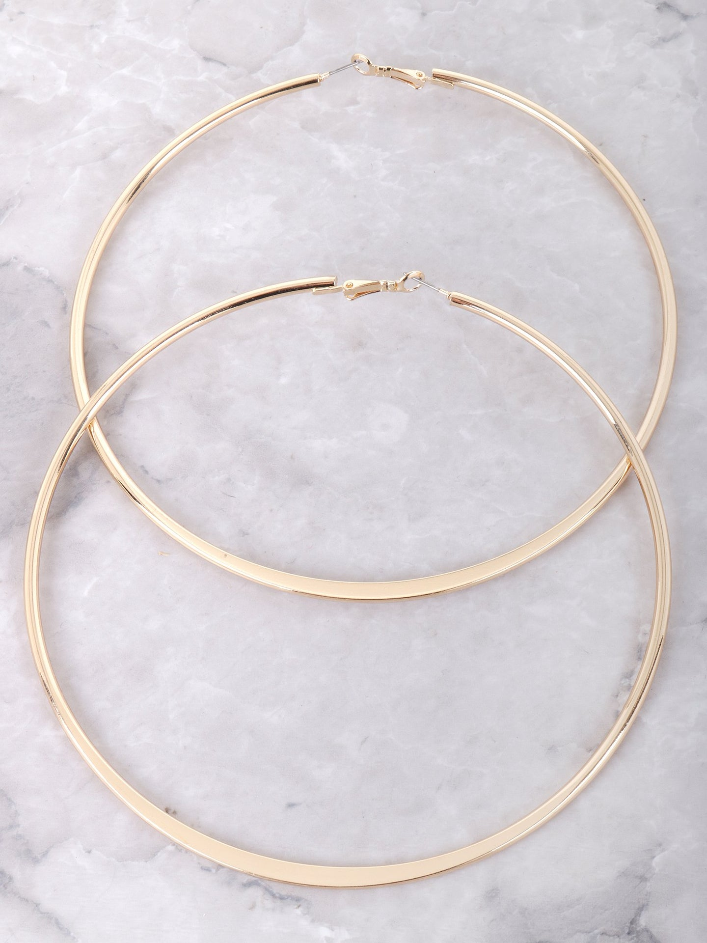 Around The Way Girl Hoop Earrings Anarchy Street Gold