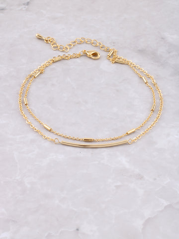 Mini Bars Chain Anklet Anarchy Street Gold