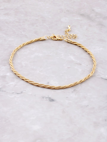 Braided Anklet Anarchy Street Gold