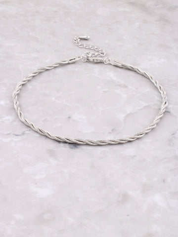 Braided Anklet Anarchy Street Silver