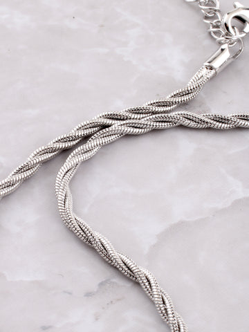 Braided Anklet Anarchy Street Silver - Details