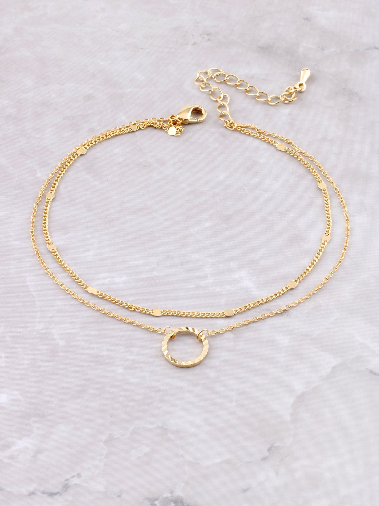 Circle Drop Anklet Anarchy Street Gold