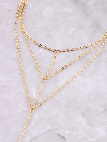 Triple Cage Toe Ring Anklet Anarchy Street Gold - Details