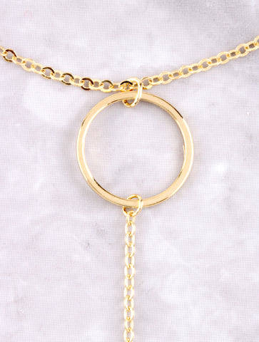 Open Loop Toe Ring Anklet Anarchy Street Gold - Details