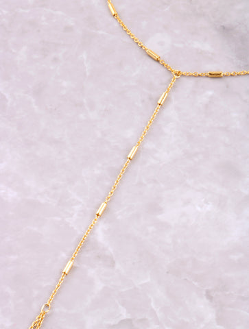 Multi Bar Toe Ring Anklet Anarchy Street Gold - Details