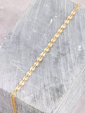 Line Disc Toe Ring Anklet Anarchy Street Gold - Details