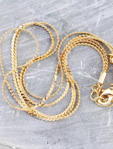 Triple Layered Anklet Anarchy Street Gold - Details