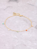 Hanging Beads Anklet Anarchy Street Multi