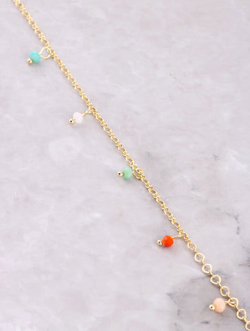 Hanging Beads Anklet Anarchy Street Multi - Details