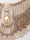 Coin Bib Necklace Anarchy Street Gold - Details