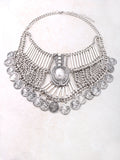 Coin Bib Necklace Anarchy Street Silver