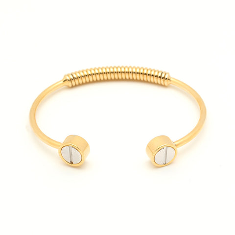 Screw Bangle - Gold - Anarchy Street  - 1