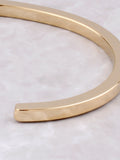 Flat Bangle Bracelet Anarchy Street Gold - Details