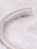 Flat Bangle Bracelet Anarchy Street Silver - Details