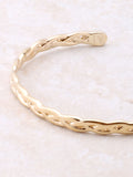 Braided Cuff Bracelet Anarchy Street Gold - Details