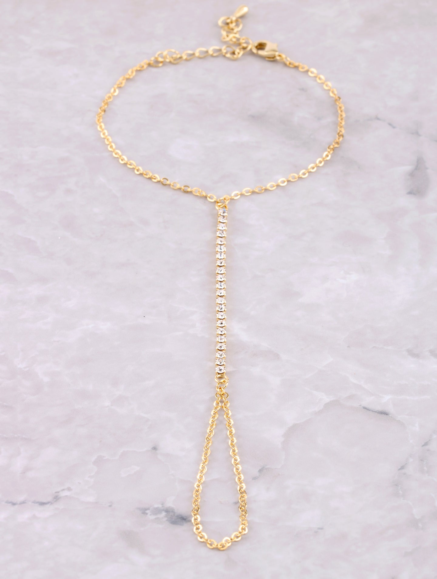 Pave Hand Chain Anarchy Street Gold