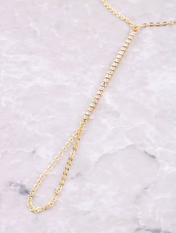Pave Hand Chain Anarchy Street Gold - Details