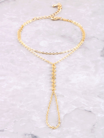 Line Disk Hand Chain Anarchy Street Gold