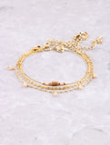 Beaded Chain Dainty Bracelet Set Anarchy Street Nude