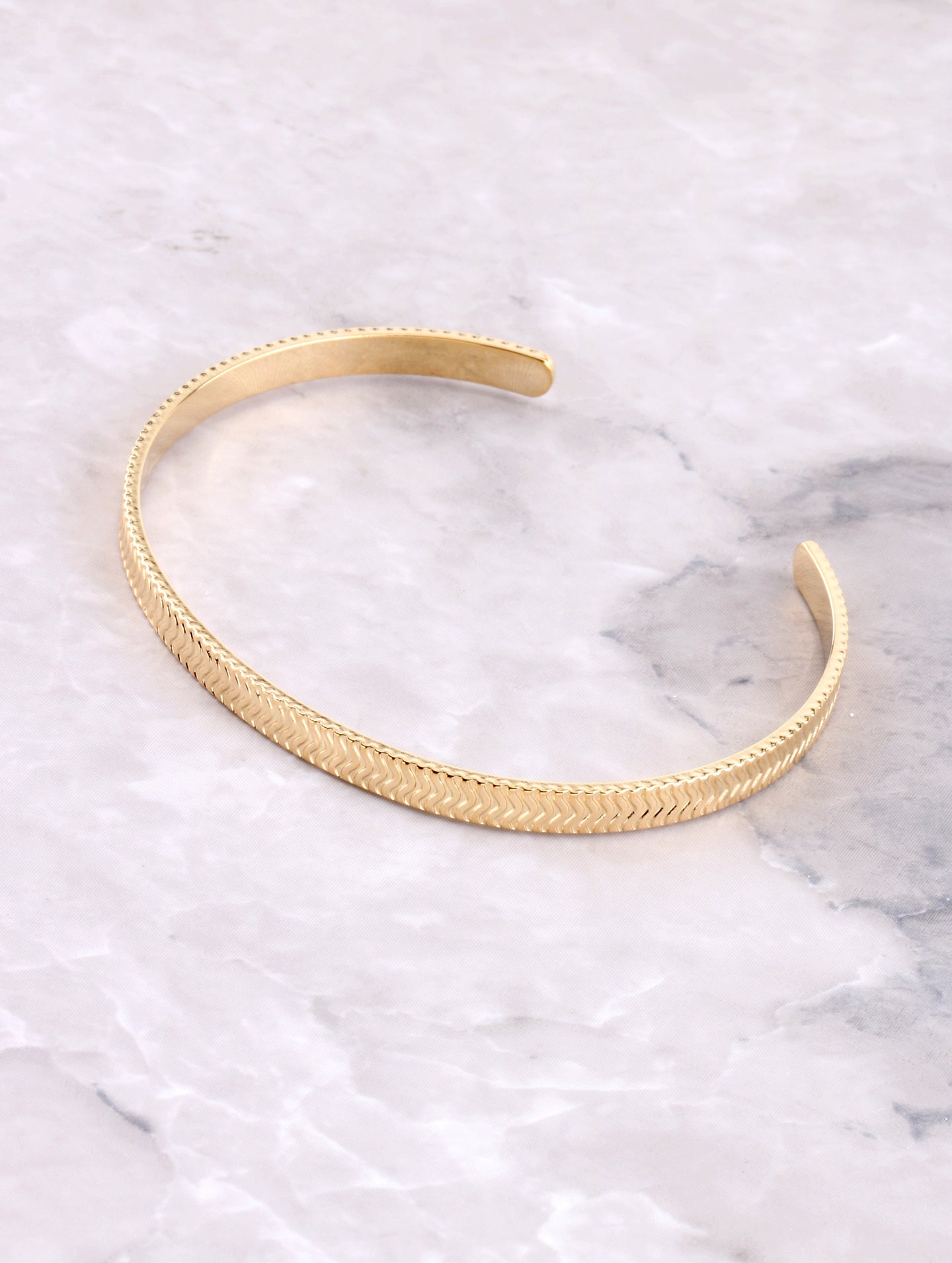 Textured Cuff Bracelet Anarchy Street Gold