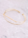 Wire Bar Cuff Bracelet Anarchy Street Gold