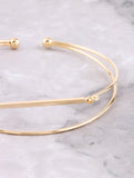 Wire Bar Cuff Bracelet Anarchy Street Gold - Details