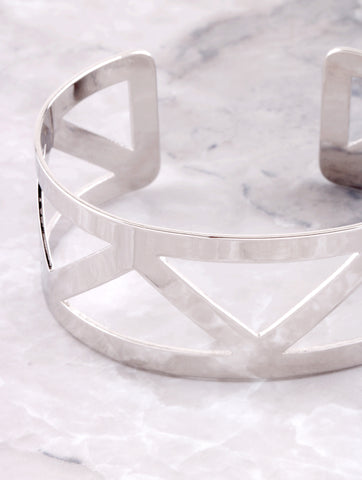 Triangle Cutout Cuff Bracelet Anarchy Street Silver - Details