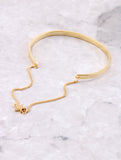 Hanging Chain Cuff Bracelet Anarchy Street Gold Star