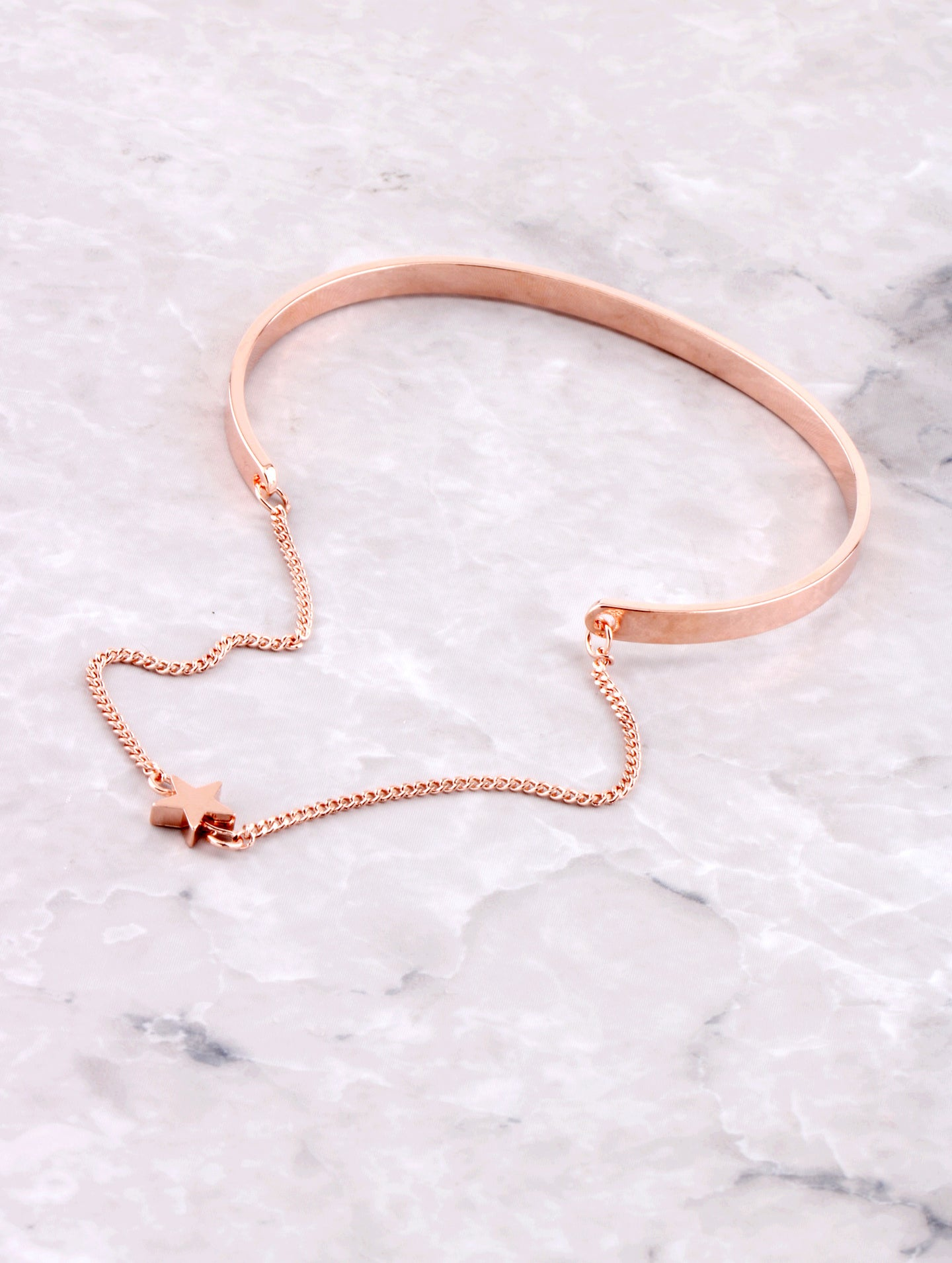 Hanging Chain Cuff Bracelet Anarchy Street Rosegold Star