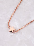 Hanging Chain Cuff Bracelet Anarchy Street Rosegold - Details Star