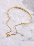 Hanging Chain Cuff Bracelet Anarchy Street Gold Triangle