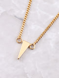 Hanging Chain Cuff Bracelet Anarchy Street Gold - Details Triangle